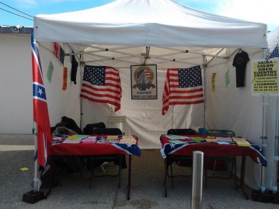 Notre stand country western story au festival de Nogent-sur-Oise